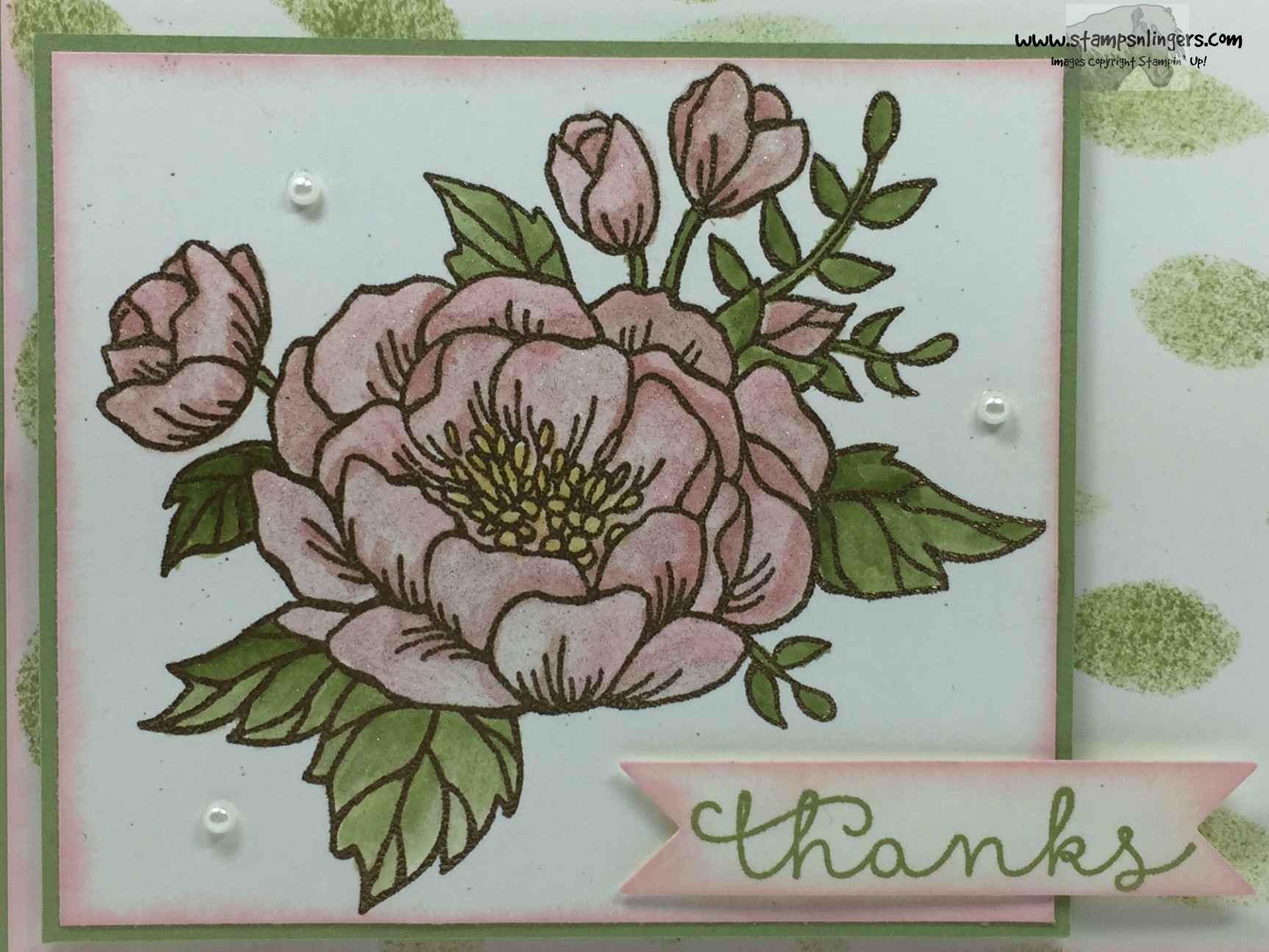 Stampin Up Blooming Love Cottage Greetings Thanks Stamps N