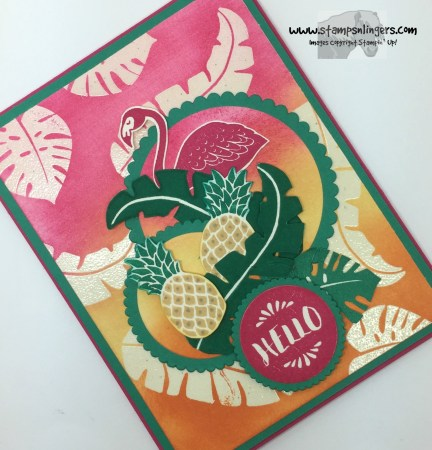 Pop of Paradise Hello 4 - Stamps-N-Lingers