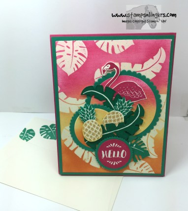 Pop of Paradise Hello 7 - Stamps-N-Lingers