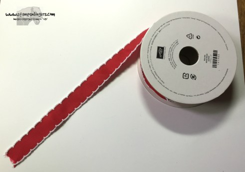 Real Red 34 Stitched Edge Ribbon - Stamps-N-Lingers