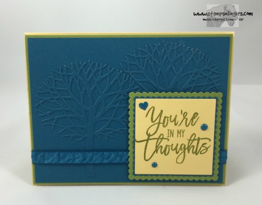 Thoughtful Branches Embossed Panel 1 - Stamps-N-Lingers