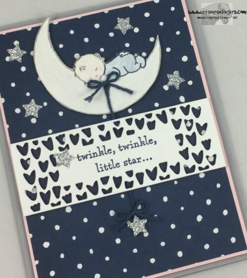 Stars 2 GIRL Bedtime 2 BOY Stampin/' Up Baby Card Kit Moon Scallops