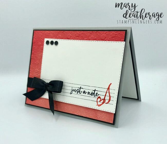 embossing folder Stampin Up bonus Fancy script TO MY LOVE w ORNATE BORDER Ann