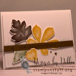 Beautiful fall card that is easy to make