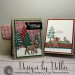 Merry Moose and his Racoon Friend Christmas Card and how to make your own SNOW