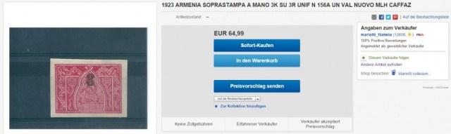 fake overprint on ebay