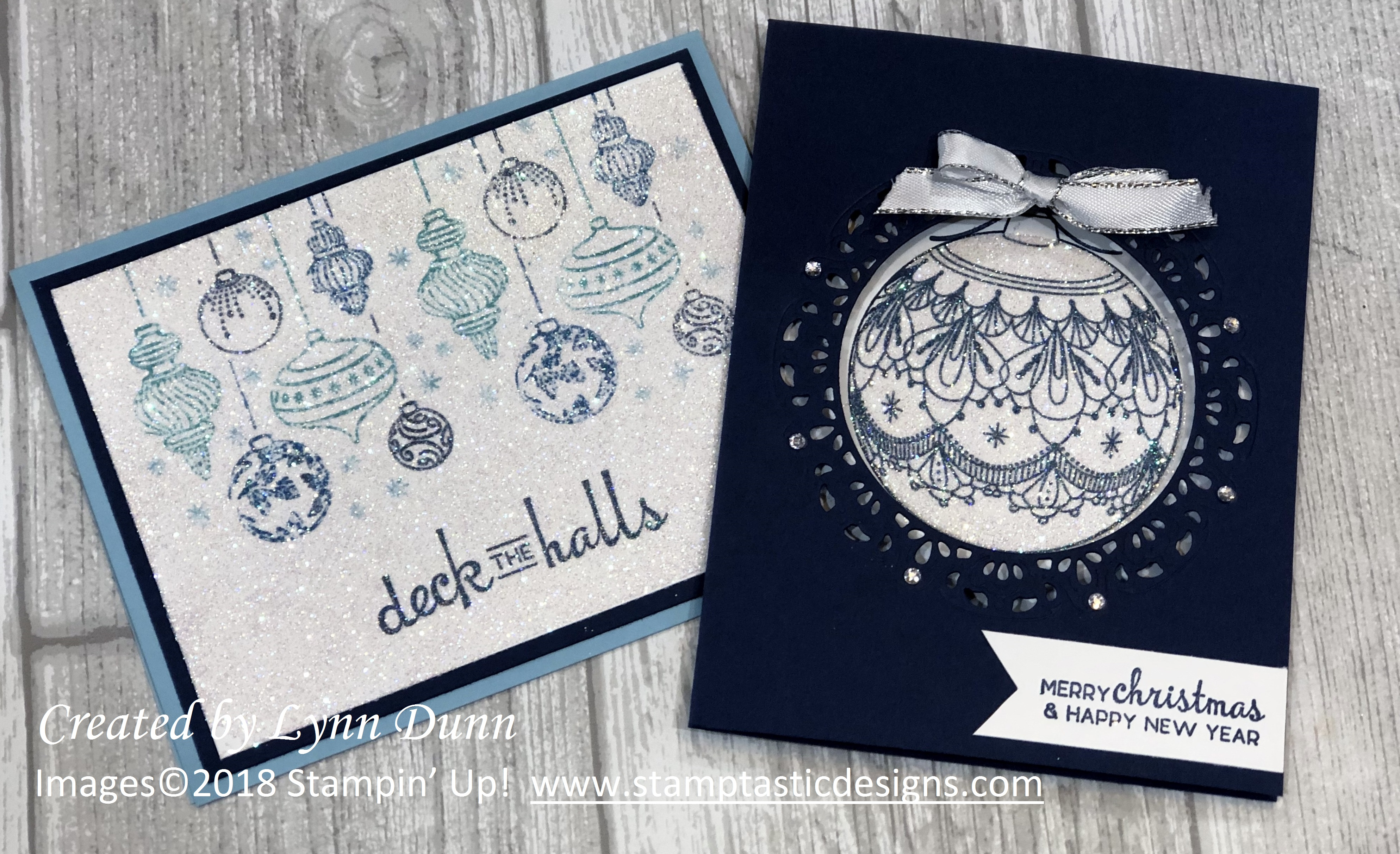 Christmas Greeting Card Ideas.Beautiful Baubles Christmas Card Ideas Lynn Dunn