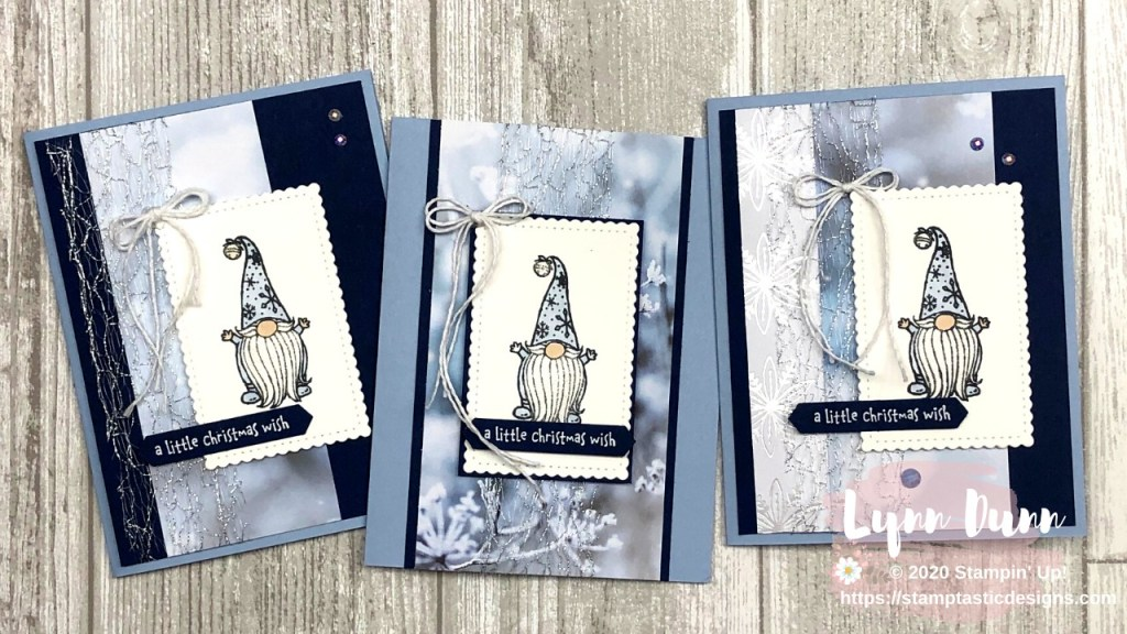 Stampin Up Christmas Cards 2020 Gnome For The Holidays   A Little Christmas In July | Lynn Dunn