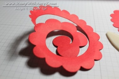Rolled Rose Tutorial 1 - Stamp With Amy K