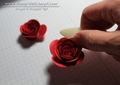 Rolled Rose Tutorial 5 - Stamp With Amy K
