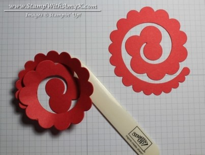 Rolled Rose Tutorial - Stamp With Amy K