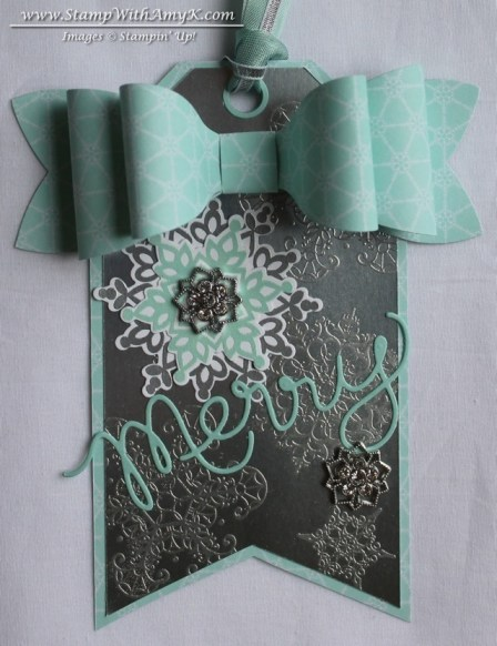 Festive Flurry Snowflake Soiree Tag - Stamp With Amy K