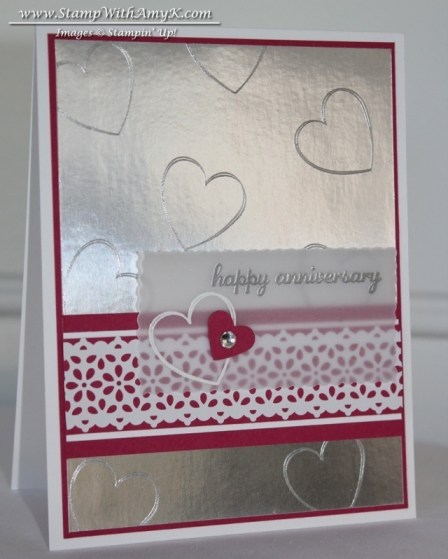Hearts a Flutter - Stamp With Amy K