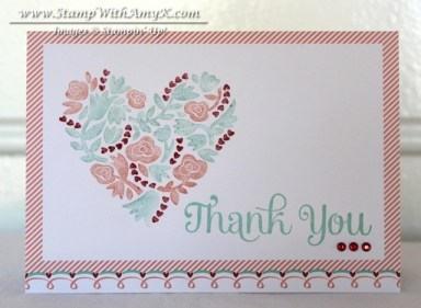Flowerfull Heart - Stamp With Amy K