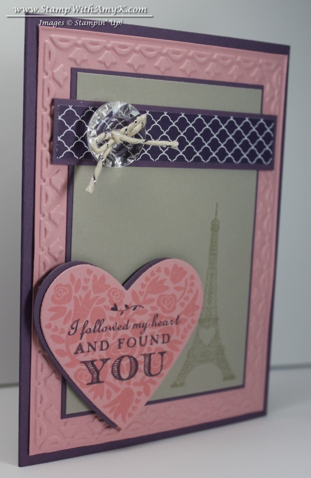 follow my heart valentine for mojo monday  stampin' up