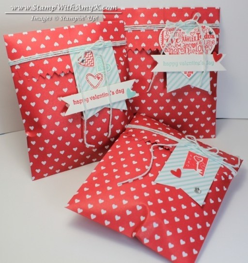 Sweetheart Treat Bags - Stamp With Amy K