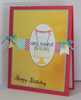Make a Cake Banner Blast 1 - Stamp With Amy K