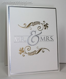 Mr. & Mrs. 2 - Stamp With Amy K