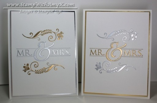 Mr. & Mrs. - Stamp With Amy K