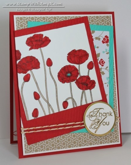 Pleasant Poppies 1 - Stamp With Amy K