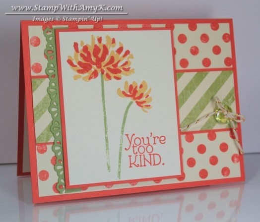 Too Kind - Stamp With Amy K