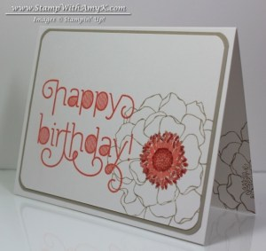 Blended Bloom - Stamp With Amy K