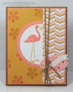 Flamingo Lingo 1 - Stamp With Amy K