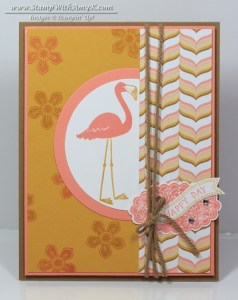 Flamingo Lingo 1 - Stamp With Amy K
