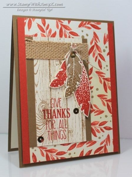 Four Feathers - Stamp With Amy K