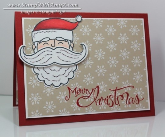 Santa Stache - Stamp With Amy K