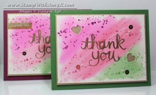 Watercolor Thank You 4 - Stamp With Amy K