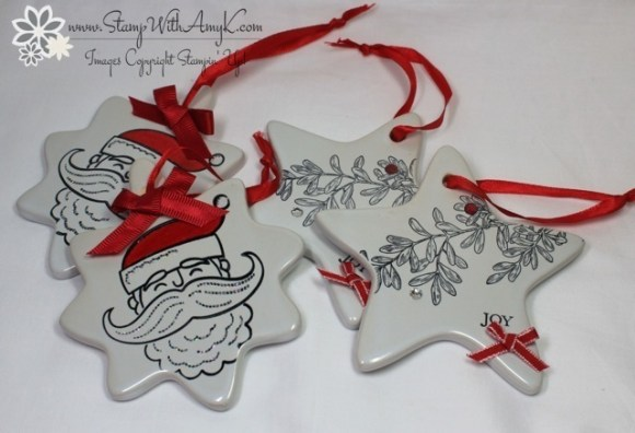 An Open Heart & Santa Stache - Stamp With Amy K
