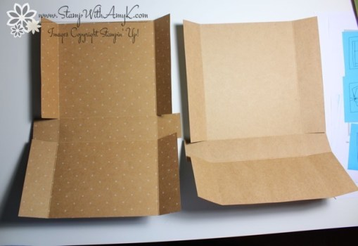 Adjustable Gift Box Tutorial 4 - Stamp With Amy K