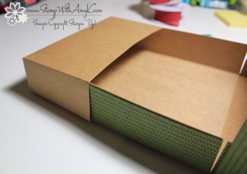 Adjustable Gift Box Tutorial 8 - Stamp With Amy K