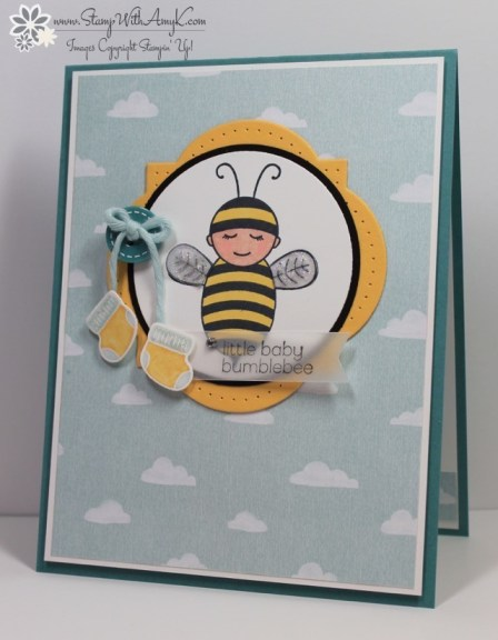 Baby Bumblebee - Stamp With Amy K