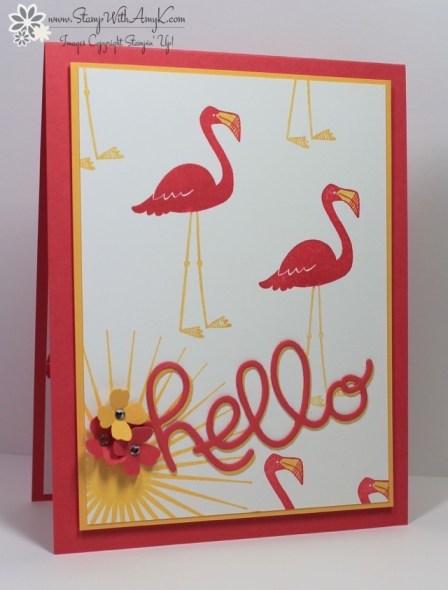 Flamingo Lingo - Stamp With Amy K