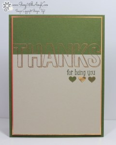 For Being You 2 - Stamp With Amy K