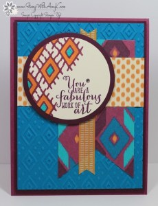 Bohemian Borders 2 - Stamp With Amy K