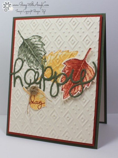 Vintage Leaves - Stamp With Amy K
