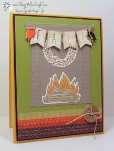 Festive Fireplace 1 - Stamp With Amy K