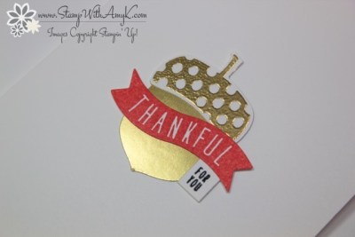 Acorny Thank You 2 - Stamp With Amy K