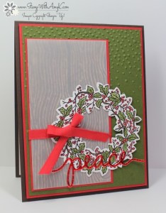 Peaceful Wreath 1 - Stamp With Amy K