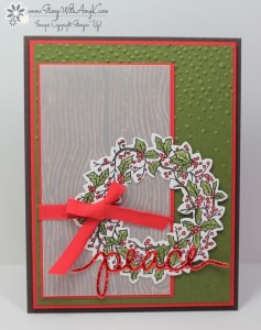 Peaceful Wreath 2 - Stamp With Amy K