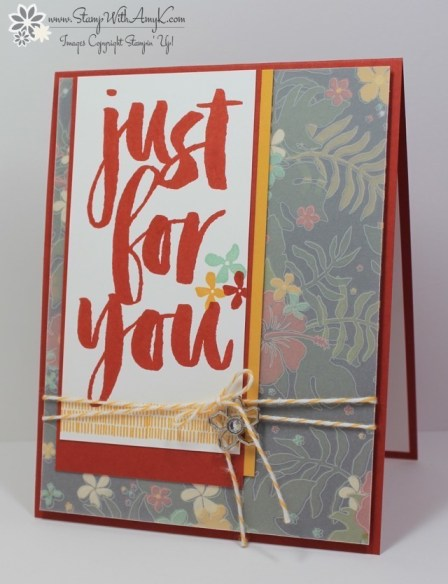 Botanicals for You - Stamp With Amy K