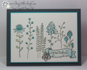 Flowering Fields 2 - Stamp With Amy K