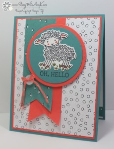 Easter Lamb 1 - Stamp With Amy K