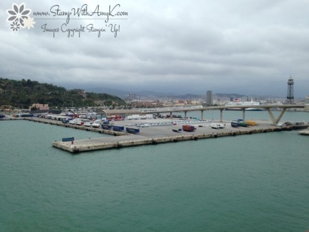Barcelona Port - Stamp With Amy K