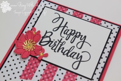 Stylized Birthday 3 - Stamp With Amy K