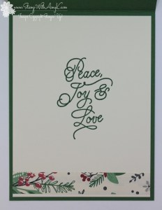 Peace This Christmas - Stamp With Amy K