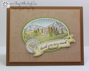 Tuscan Vinyard 1 - Stamp With Amy K